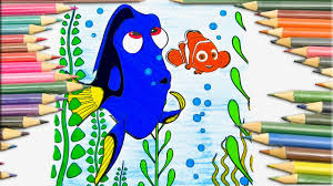 coloring pages for kids dory and nemo finding nemo pixar coloring