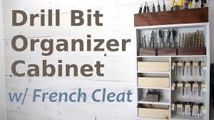 Home Theater Decorations Accessories Drill Bit Organization Cabinet W French Cleat Youtube