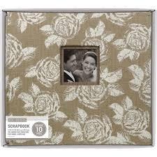 Burlap Photo Album K U0026company Burlap Post Bound Window Album 12x12 Natural W White Floral