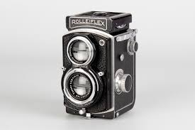 a rolleiflex baby sport 4x4 tlr camera black serial no 642229