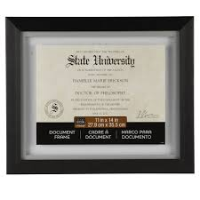 diploma frame size document wall frames