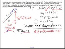 Challenge Physics Variable Angle Trajectory Problem Physics Challenge Problem