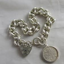silver chain link charm bracelet images Chunky sterling silver chain link charm bracelet vintage 1977 JPG