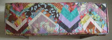 Piano Bench Cushion Pattern Improv Chevron Quilted Bench Cushion Low Beam Studios
