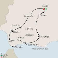 Andalucia Spain Map by Spain Tours Holiday Packages Madrid Barcelona Granada