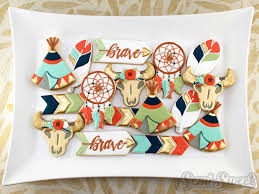 boho chic pow wow party cookies semi sweet designs