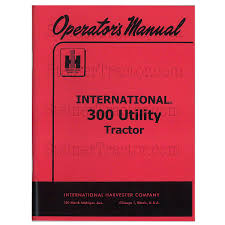 rep116 operators manual ih 300 utili