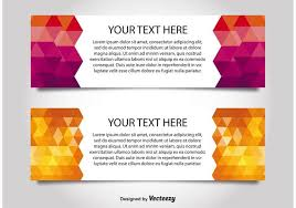 modern style web banner templates download free vector art