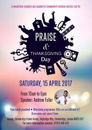 thanksgiving and praise adventist church in uk and ireland national site praise