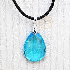 blue gem necklace images Sword art online kirito asuna cosplay blue crystal gem stone jpg