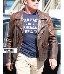 brown motorcycle jacket terminator 1984 arnold distressed brown motorcycle jacket