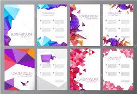 modern crystal geometric origami templates u2014 stock vector