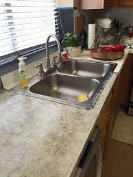 A DIY Countertop Redo And A Kitchen Cabinet Painting Project The - Kitchen sink paint