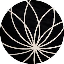 Black And White Throw Rugs Artistic Weavers Michael Black 4 Ft Round Area Rug Mcl 7072 The