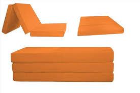 Folding Cushion Bed Fold Up Cushion Bed Folding Foam The Futon Shop Inch Orange Out