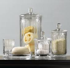 Glass Bathroom Storage Jars Products For Your Bathroom Honeysuckle