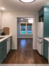 teal livingroom my finished for now kitchen from kelly green to teal before after