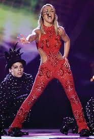 Oops Halloween Costume Britney Spears Red Jumpsuit Costume