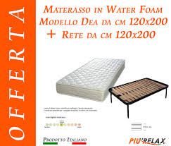 materasso in waterfoam offerta materasso in water foam mod dea da cm 120x200 rete 14