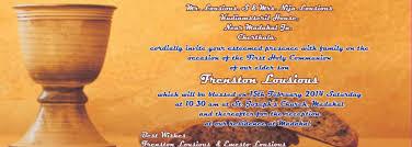 Invitation Card For Holy Communion Frenston Lousious First Holy Communion Invitation Card Youtube