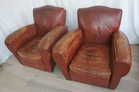 Vintage Leather Club Chair Pair French Leather Club Chairs The Hoarde