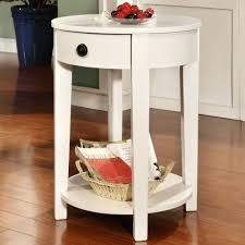 side table round nightstand table with drawer modern round