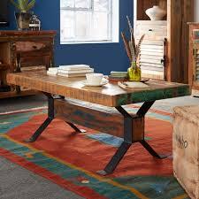 buy indian hub coastal reclaimed wood coffee table online cfs uk