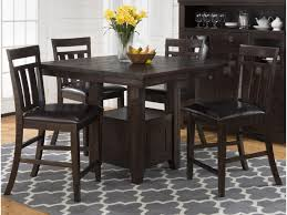 kodak pub table with storage base and chairs set morris home