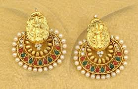 temple design gold earrings 9 temple design earrings styles at