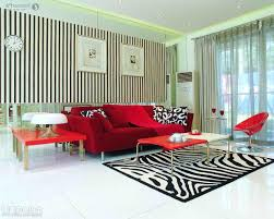 sectional red sofa set in modern living room as well zebra pattern