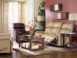 Leather Lazy Boy Recliner La Z Boy Leather Reclining Living Room Group The