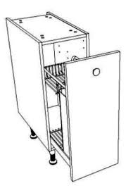 meuble cuisine 40 cm coulissant pour bouteilles et epices largeur 30 cm