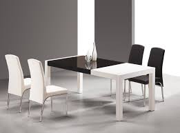 black contemporary dining table black and white dining sets nurani org