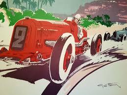 poster grand prix of monaco 1934 art deco style limited re print