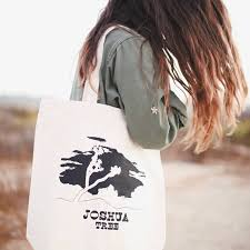 joshua tree illustrated canvas reusable tote bag 10 of