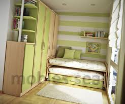 Laminate Flooring Beside White Wooden Shelves Decorating Ideas For - Color schemes for small bedrooms