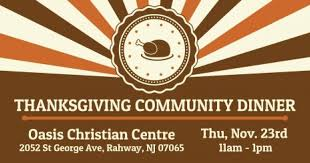 oasis christian centre hosts thanksgiving community dinner in