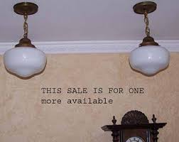 Schoolhouse Ceiling Lights by Brass Ceiling Light Etsy