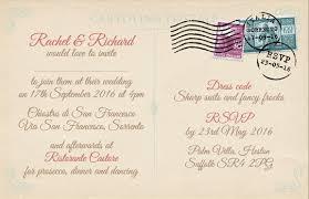 postcard wedding invitations vintage postcard wedding invitations