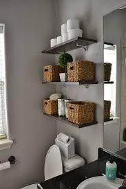 small bathroom storage ideas over toilet fur rug white color