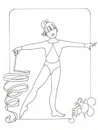 gymnastics color pages sport coloring pages kids gymnastics
