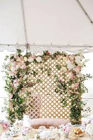 wedding backdrop garden dreamy floral lattice backdrop by bows arrows for the wedding