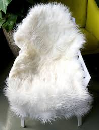 Bedroom Chairs Amazon by Amazon Com Ojia Deluxe Soft Faux Sheepskin Chair Cover Seat Pad
