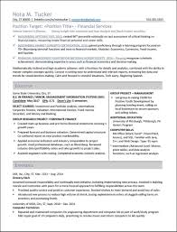 Targeted Resume Sample by Resume Styles Examples