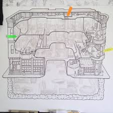 blueprint of a mansion making the h h holmes murder castle u2014 carden illustration