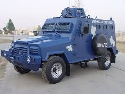 police armored vehicles hit mohafiz