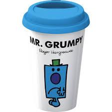 creative tops double walled porcelain mr men mr grumpy take away