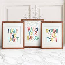 Bathroom Art Printables Amazing Decoration Kids Bathroom Wall Art Wonderful Ideas Wash
