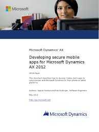 developing secure mobile apps for microsoft dynamics ax 2012