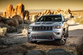 yellow jeep on beach 2017 jeep grand cherokee trailhawk review first drive